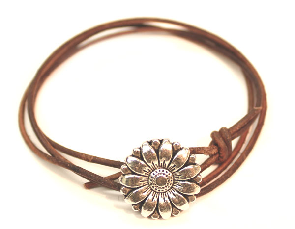 sunflower leather wrap